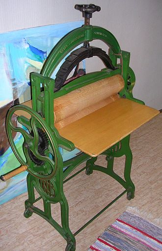 Mangle (machine) - A Norahammars Bruk model 3005-2 mangle from 1934