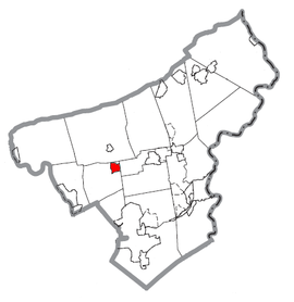 Map of Bath, Northampton County, Pennsylvania Highlighted.png