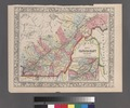 Map of Canada East in counties; Environs of Montreal (inset). NYPL1510794.tiff