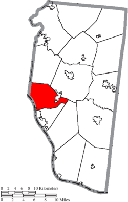 Location of Pierce Township in Clermont County