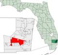 Map of Florida highlighting Davie.png