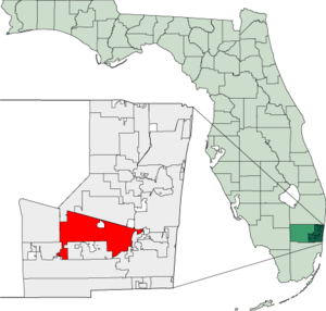 Map of Florida highlighting Davie.png