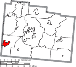 Location of Bellbrook in Greene County