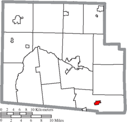 Location of Mount Victory in Hardin County