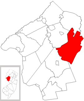 Map of Hunterdon County highlighting Readington Township.png
