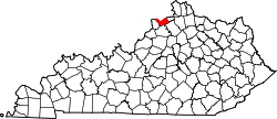 Map of Kentucky highlighting Carroll County.svg