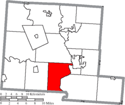 Location of Wayne Township in Pickaway County