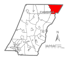 Map of Reade Township, Cambria County, Pennsylvania Highlighted.png