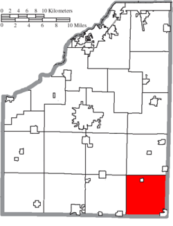Location of Perry Township in Wood County