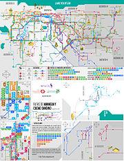Mapa de el recorrido de buses de managua