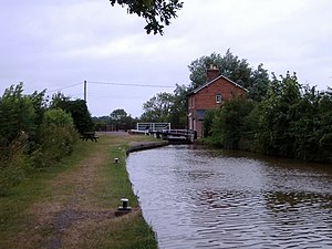 Norbury, Cheshire - Image: Marbury Lock geograph.org.uk 213694