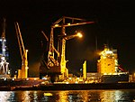 Marcor 2 unloading Fernando by night in Rotterdam pic2.JPG
