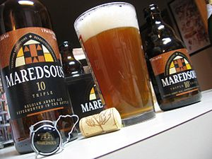 Duvel Moortgat Brewery - Maredsous 10, a Belgian tripel ale.