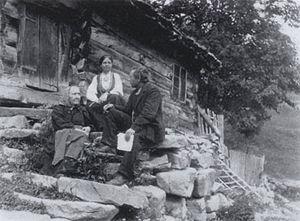Rikard Berge - Informant Margit Tveiten (1835-1923), artist Johanna Bugge Berge and folk song and tale collector Rikard Berge