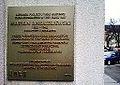 Marian Andrzejewski plaque, ZUS Poznan, Dabrowskiego street.jpg