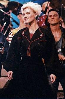 Marie Fredriksson al 'Rock runt riket '87' tour di concerti.