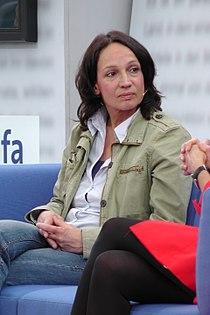 Marion Brasch auf dem Blauen Sofa der LBM 12.jpg