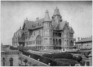 Mark Hopkins Jr. - The Hopkins mansion on Nob Hill