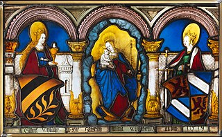 Marriage Panel of Gabriel Weydacher and his wife Juliana Wemis with the Virgin and Child and Saints Barbara and Catherine