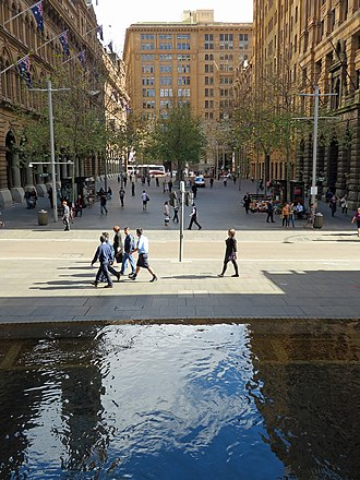 Martin Place - Martin Place (view west from Pitt Street towards George Street) in 2013