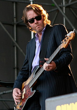 Martyn P. Casey - Casey performing live on-stage in July 2008.