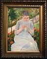 Mary cassatt, giovane donna seduta in un giardino, 1880-82.JPG
