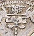 Maskaron über dem Wappenschild des Talers auf die Einnahme von Gotha.JPG