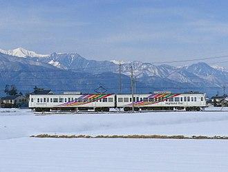 Kamikōchi - Highland Rail train on the Kamikōchi Line