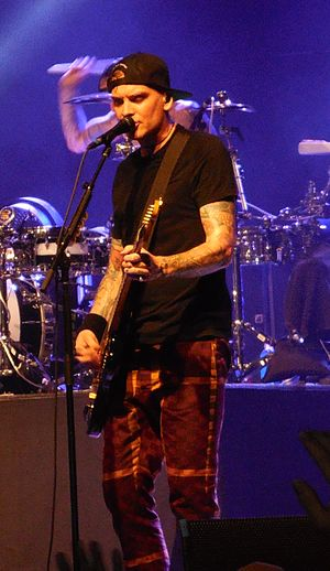 Matt Skiba - Skiba performing with Blink-182 in 2015 at the Musink Festival.
