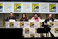 Matt Smith, Jenna Coleman, Steven Moffat & David Bradley (9362649445).jpg