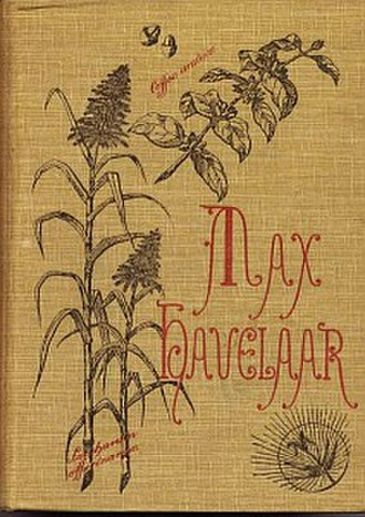 History of fair trade - Front cover of Max Havelaar, 9th edition (1891).