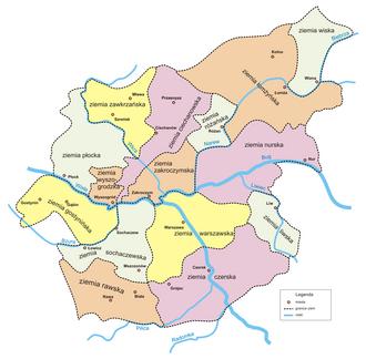 Liw Land - historical lands of Masovia