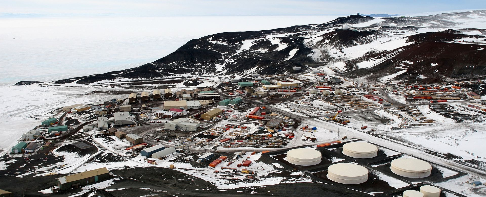 McMurdo Station from Observation Hill.