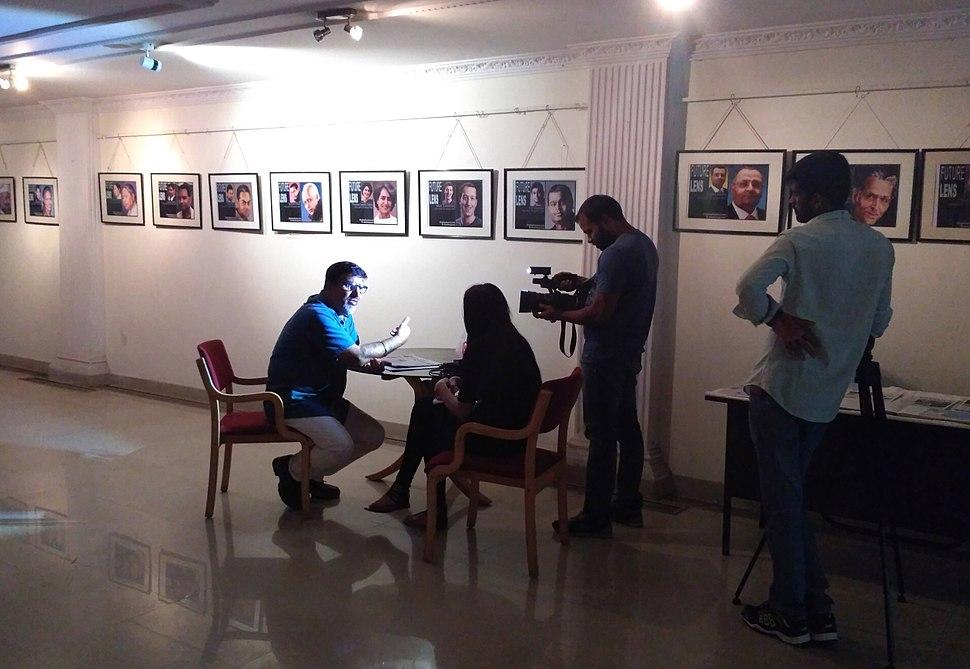 Media Reporting at Indian Cartoon Gallery