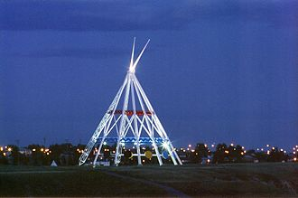 Medicine Hat - Medicine Hat Teepee at night