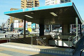 Jingū-Nishi Station metro station in Nagoya, Aichi prefecture, Japan