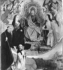 Epitaph des Jakob Udemann mit der Fürbitte Christi und Mariae vor Gottvater