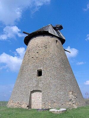Melenci - Abandoned windmill nearby Melenci