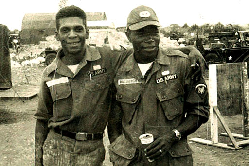 Melvin Morris and a fellow Soldier take time to pose for a photo taken in South Vietnam