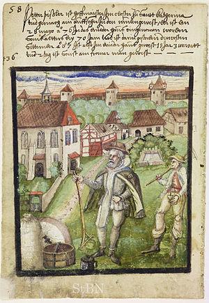 Katharinenkirche, Nuremberg - Illustration from 1587