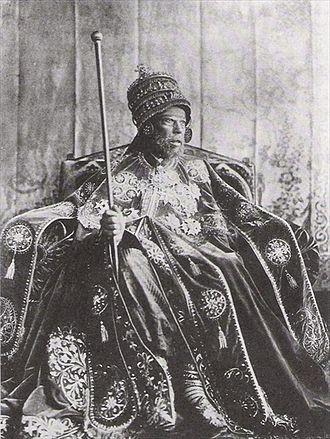 Italian Eritrea - King Menelik II