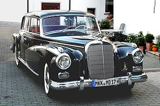 Mercedes-Benz W186 - The limousine-length Mercedes-Benz 300d (W189) was introduced in 1957