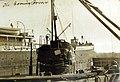 Merchant submarine, Deutschland, conning tower, 1916 (30028156690).jpg