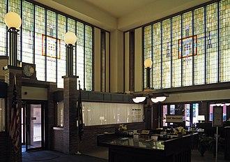 Merchants National Bank (Winona, Minnesota) - Image: Merchants National Bank interior