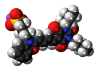 Space-filling model of the merocyanine I molecule