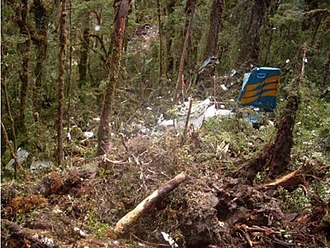 Merpati Nusantara Airlines Flight 9760 - The wreckage of Flight 9760 after the crash
