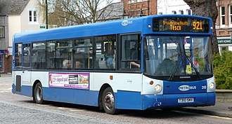 Metrobus (South East England) - Alexander ALX200 bodied Dennis Dart SLF in Horsham in the older outside London livery