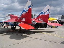 vista desde atrás del MiG-29OVT
