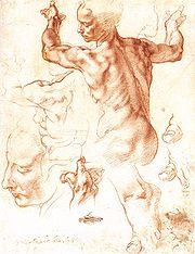 Drawing for The Libyan Sybil, Metropolitan Museum of Art.