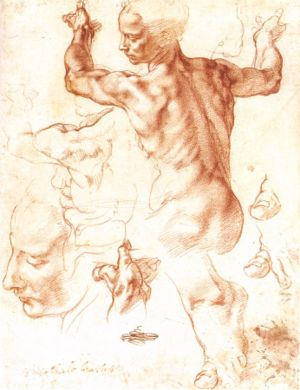MICHELANGELO Buonarroti Study for the Libyan S...